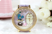 Watch 2013 mini watch korea Jewel Adorn cute blue bird Clay Watch_wholesale&retail