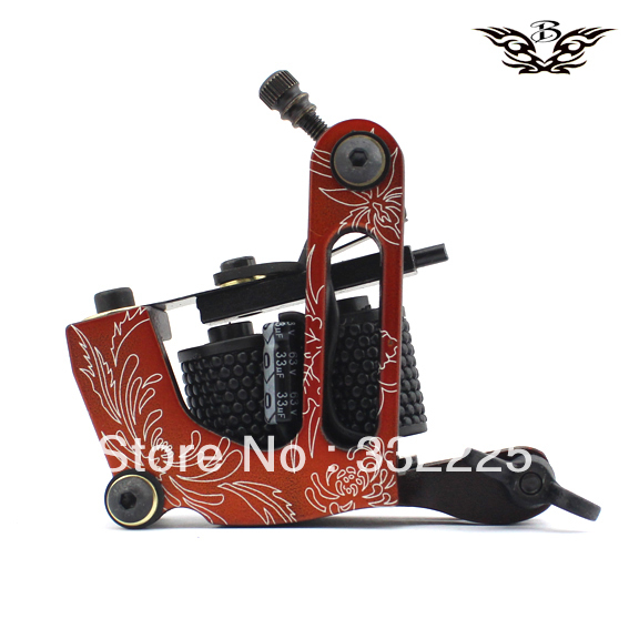 2013 new design arrivaled tattoo machine gun 10 coils wrap professional frame free shipping body Tool supply(China (Mainland))