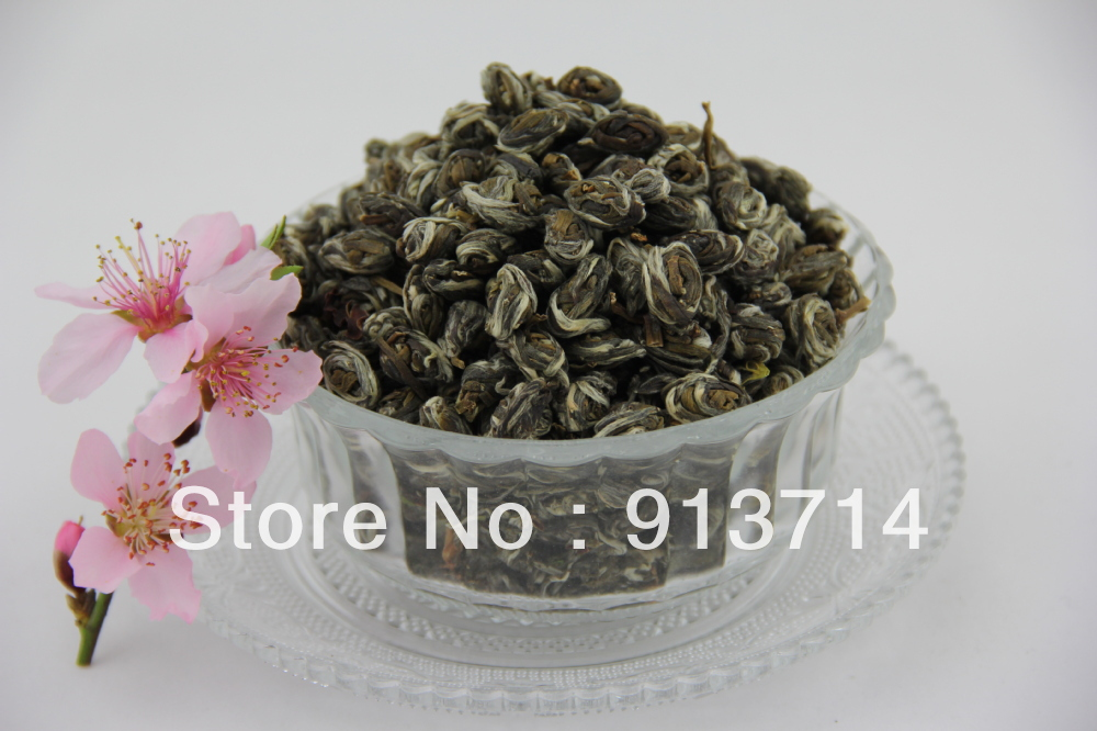 Free shipping premium grade pure Natural organic jasmine green tea,like phoenix eyes flower tea strong jasmine fragrance taste.(China (Mainland))