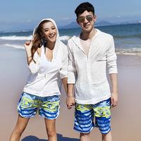 2013 lovers beach pants male Women hot spring swimsuit female swimwear