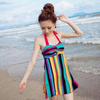 2012 12316 skirt one piece slim hot spring swimsuit female swimwear