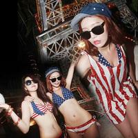 2013 skirted bikini small push up steel piece set hot spring swimsuit female swimwear