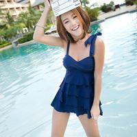 2013 3078 split skirt style swimsuit hot spring slim female swimwear