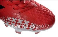 ^_^  Falcon thirteenth generation plastic nail version of FG football shoes red and white FG soccer Boots free shipping