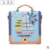 Free shipping 2013 sailboat color block backpack