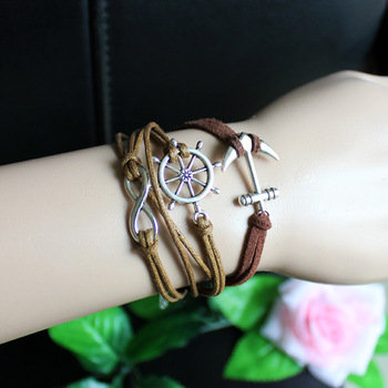 Accessories elastic line anchor 8 bracelet