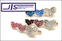 Rhinestone Crystal Cute Heart Fashion Hairpin,Hair Clips,Hair Claw Jaw, Hair accessories, 0695, Free Shipping