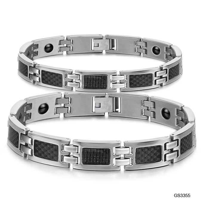 Japan and South Korea jewelry direct sales 2012 new Korean jewelry with magnetic health care couple bracelet GS3355(China (Mainland))