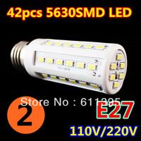 2pcs/lot Retail 12W 42LED 5630 SMD E27 E14 B22 Corn Bulb Light Maize Lamp LED Light Bulb Lamp LED Lighting Warm/Cool White