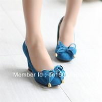 free shipping women prom chunky 8cm open toe lace high heels 2013 female wedge neon pumps single shoes platform with a pattern