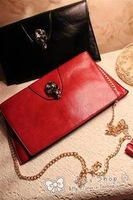 Free shipping Spring and summer ! brief fashion skull gem decoration envelope day clutch chain women's cross-body handbag