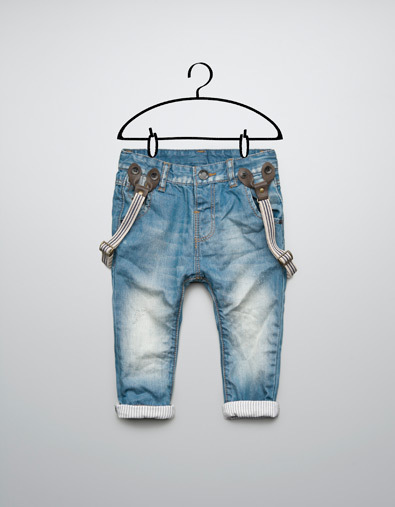 Free shipping kids children's jeans Stripe flanging Cowboy suspenders trousers(China (Mainland))