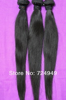 "FreeShipping 22''24''26''26"" Mix Lengths 4pcs Queen Brazilian Virgin Straight Hair Extension Wholesale Natural Color Tangle Free"
