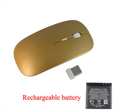 New Slim 2.4GHz Wireless Mouse Rechargeable Lithium Battery 830mAh(China (Mainland))