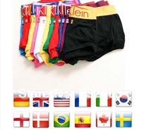 Free shipping M-XL2010 World Cup commemorative flag combed cotton men's boxer briefs (11 countries)