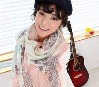 Free Shipping !2014! Temperament Excellent,  Beat Notes  Cotton Yarn Prevent Bask in  Women Scarf Shawl. SJ089