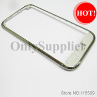 Free shippingFront Bezel Housing Touch Frame Panel Chassis for Samsung Galaxy S i9000 ~Silver