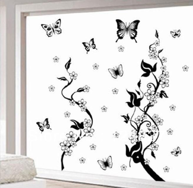 Mariposas para pintar en paredes imagui for Mural de flores y mariposas