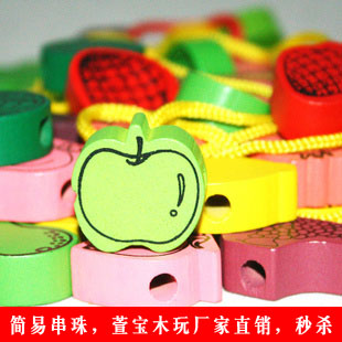 Infant baby child beads toy fruit animal shape bead toys 1 - 3 years old(China (Mainland))