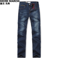 2012 autumn and winter fashion male fashion plus velvet thickening dn100 straight jeans