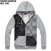 Men's clothing autumn male casual cardigan with a hood sweatshirt dj42