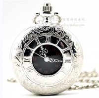 Dial:42mm Argent classic Roman dual display fashion Retro pocket  watchmen and women fashion pocket watches
