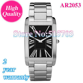 Free shipping-New Classic Super Slim Black Dial BRAND New Men's Watch AR2053 + Original Box