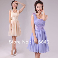 bridesmaid dress short design wedding party dress knee-length XS  S  M  L  XL  XXL free shipping