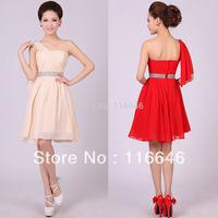 fashion sexy wedding bridesmaid short dress wedding beading dress knee-length XS  S  M  L  XL  XXL  free shipping