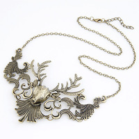 Min. order is $10 (mix order)free shipping 2014 new jewelry european style Fashion vintage female short elk necklace noble punk