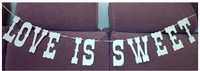 """""""LOVE IS SWEET""""  Wedding Banner Party Decorations Garland Buntings Banners Handmade"""