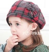 free shipping of  cotton material and  fashional visor cap baseball hats for kids lattice sexangular design