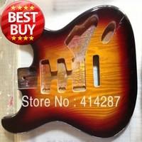 free shipping Sunburst nitro finishing nice alder wood strat guitar body for sale