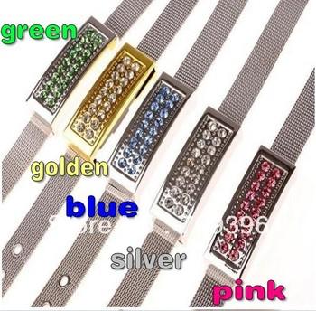 Free Shipping USB Flash Drive 2GB-32GB Swarovski crystal bracelet USB drive,jewelry bracelets USB flash drive ,10pcs/lot