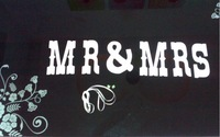 """MR & MRS""  Wedding Banner Party Decorations Garland Buntings Banners Handmade"