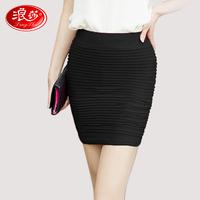 Spring and autumn short skirt pleated skirt step skirt  summer high waist skirt