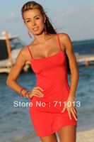 Drop shipping! Female Lovely Strap summer dress,sexy back open solid color fashion sheath dress