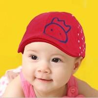 free shipping of  cotton material and  fashional visor cap baseball hats for kids fine girl cartoon design