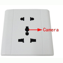 White voice-activated security socket camera mini DVR 640x 480 Free shipping(China (Mainland))