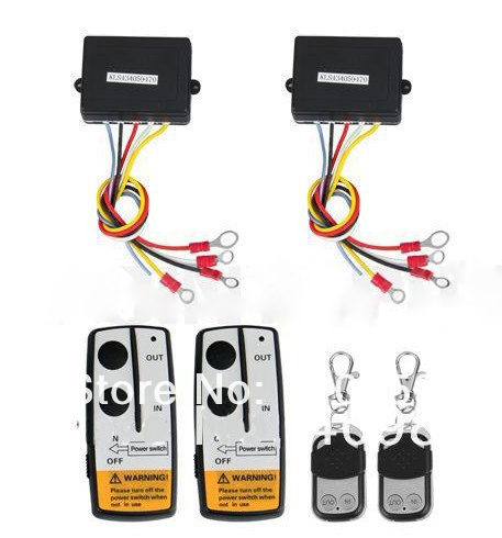 2 x Wireless Winch Remote Control Kit 12V for Truck Jeep SUV ATV free shipping(China (Mainland))