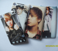 4 Pcs Justin Bieber Hard Back Cover Case for Apple iPod Touch 4th JT402