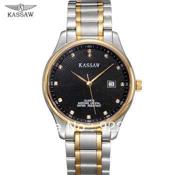 Kassaw Swiss Male Waterproof Men Luxury Watch 18k Inner Gold Ultra-thin Stainless Steel Commercial Sapphire Quartz Watch l5630