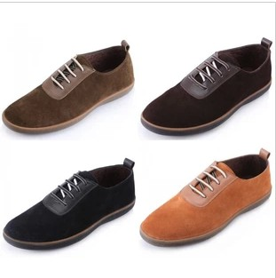 nubuck cowhide soft outsole soft surface british style shoes casual driving shoes(China (Mainland))