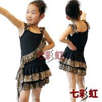 Female child Latin dance set Latin dance skirt Latin performance wear Latin leotard