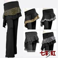 Female dance clothes dance square clothes culottes hypertensiveperson pants Latin dance culottes dance pants trousers