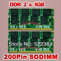 2014 new arrival time-limited stock 2gb ( 2x 1gb ) ddr pc2700 333mhz 200pin sodimm laptop memory