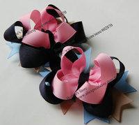 "Free shipping 20pcs/lot  4"" Boutique hair bows mix 38 designs Funky Bows Layer Hair Bows"