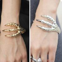 Free shipping, Fashion vintage metal punk quality trachypenaeus bracelet