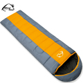 free shipping Wind tour thermal sleeping bag autumn and winter envelope hooded outdoor camping sleeping bag adult(China (Mainland))