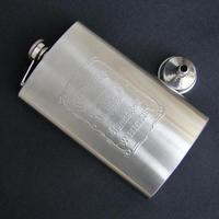 10oz Jack Daniel's Stainless Steel Hip Flask W/Funnel